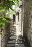 Woonhuizen, oude plattelandshuisjes en stegen in de oude stad van Nanjing, Nanjing royalty-vrije stock foto
