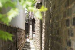 Woonhuizen, oude plattelandshuisjes en stegen in de oude stad van Nanjing, Nanjing stock fotografie