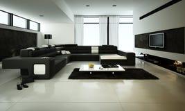 Moderne woonkamer met beige leerleunstoel en zwarte muur stock foto afbeelding 41694216 - Afbeelding eigentijdse woonkamer ...