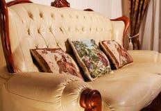 Woonkamer, binnenland, meubilair Royalty-vrije Stock Foto