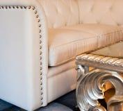 Woonkamer, binnenland, meubilair Stock Afbeeldingen