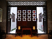 Woonkamer in Chinese stijl Royalty-vrije Stock Afbeeldingen