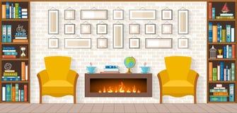 Woonkamer met meubilair Royalty-vrije Stock Afbeeldingen