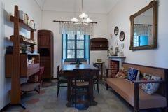 Woonkamer in oud huis Stock Foto