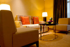 Woonkamer van hotel Royalty-vrije Stock Foto's