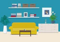 Woonkamerbinnenland met meubilair Stock Fotografie