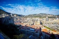 Woonkwarten, de winter2015residential kwarten van Monaco, Frankrijk, Monaco, Frankrijk royalty-vrije stock foto