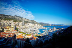 Woonkwarten, de winter2015residential kwarten van Monaco, Frankrijk, Monaco, Frankrijk stock afbeelding