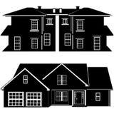 Woonplaatsen die vector bouwen Royalty-vrije Stock Afbeelding