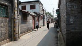 Woonsteeg 1 van Peking stock video