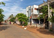 Woonstraat in Kumbakonam royalty-vrije stock afbeelding