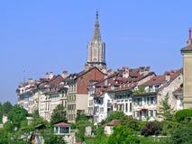 Woonwijk in Bern Stock Afbeelding