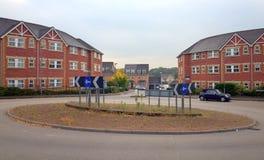 Woonwijk en Rotonde stock foto's