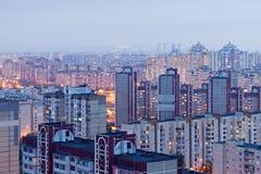 Woonwijk in Kiev, de Oekraïne Stock Foto's