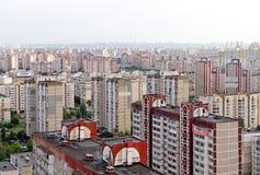 Woonwijk in Kiev, de Oekraïne Stock Foto