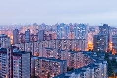 Woonwijk in Kiev, de Oekraïne Royalty-vrije Stock Foto's
