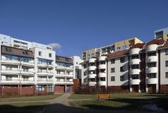 Woonwijk in Lodz - Retkinia Stock Foto's