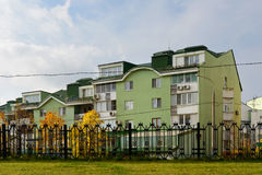 Woonwijk in Moskou, Rusland Royalty-vrije Stock Foto's