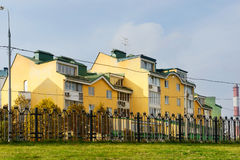 Woonwijk in Moskou, Rusland Stock Foto's