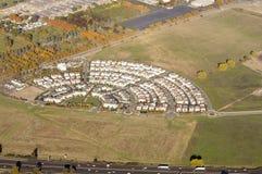 Woonwijk van de lucht Royalty-vrije Stock Fotografie