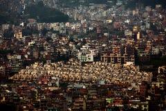 Woonwijk van Katmandu Stock Afbeelding