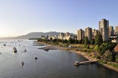 Woonwijk van Vancouver Van de binnenstad Stock Foto's