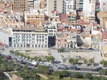 Woonwijken van de toeristenstad van Alicante Stock Afbeeldingen
