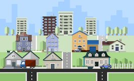 Woonwoningbouw Royalty-vrije Stock Afbeeldingen