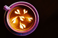 woood latte кофейной чашки предпосылки искусства Стоковое Изображение RF