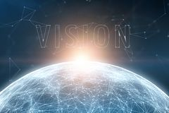 Woord van de concepten het futuristische visie op abstracte achtergrond royalty-vrije stock afbeeldingen