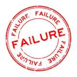 Woord van de Grunge het rode mislukking om rubberverbindingszegel op witte achtergrond vector illustratie