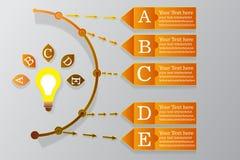 Woord van de het ontwerp het vectorpagina van de Infographicchronologie vector illustratie