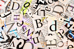 Woorden en brieven royalty-vrije stock afbeelding