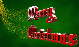 Woorden Gelukkige Kerstmis met Sterren vector illustratie
