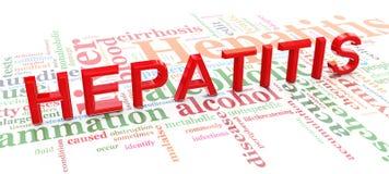Woorden met betrekking tot hepatitis Royalty-vrije Stock Foto