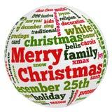Woorden met betrekking tot Kerstmis en viering vector illustratie