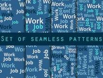 Woorden naadloos patroon, woordcollage, woordenontwerp Naadloos patroon met woorden Vereniging met het het werkonderzoek Vector royalty-vrije illustratie