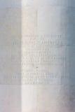 Woorden op de Kapel bij de Amerikaanse Begraafplaats van Normandië Stock Afbeeldingen