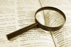 Woordenboek stock fotografie