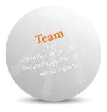 Woordenboektermijn van teamwoord Stock Foto