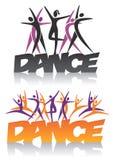 Woordendans met dansgroep stock illustratie