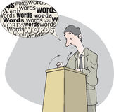 Woordenmens royalty-vrije illustratie