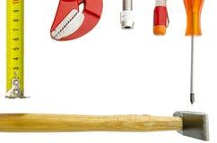 Woork-Werkzeug auf weißem Hintergrund Lizenzfreie Stockfotografie