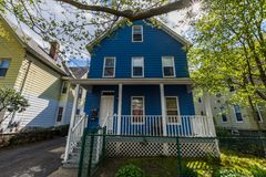 Wooster-Quadrat und umgebender historischer Bezirk in New-Haven Co Lizenzfreies Stockbild