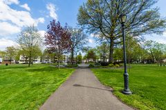Wooster-Quadrat und umgebender historischer Bezirk in New-Haven Co Lizenzfreies Stockfoto