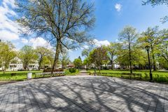 Wooster Square and Surrounding Historic District in New Haven Co. Nnecticut Stock Image