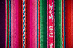 Wooven Wool Boliva traditional Fabric Background colourful Textu Royalty Free Stock Photography