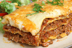 Wołowiny Lasagne lub Lasagna Zdjęcie Royalty Free