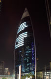 Woqod Tower at night, Doha Qatar Royalty Free Stock Photos