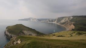 Worbarrow Bay east of Lulworth Cove Dorset coast England uk stock video footage
